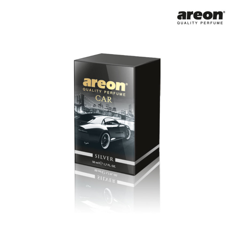 AREON CAR PERFUME 50ML SILVER PRATA